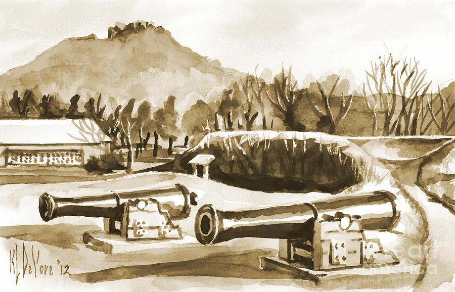 Fort Davidson Cannon Iv Painting - Fort Davidson Cannon Iv by Kip DeVore