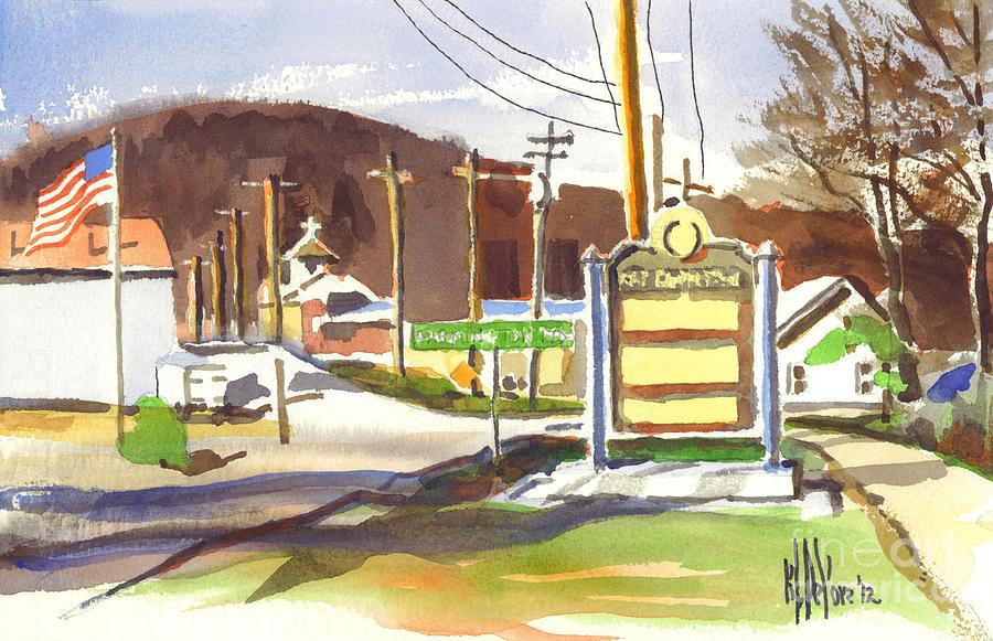 Watercolors Painting - Fort Davidson Memorial Pilot Knob Missouri by Kip DeVore