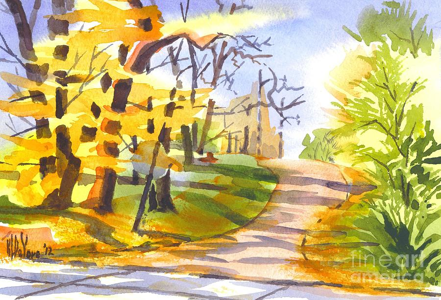 Autumn Painting - Fort Hill In Arcadia by Kip DeVore