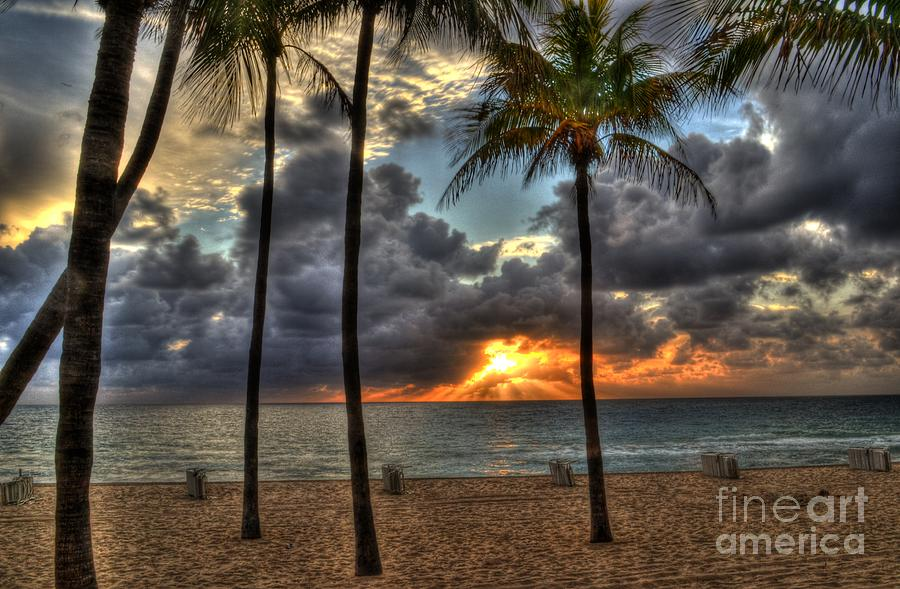 Fort Lauderdale Beach Photograph - Fort Lauderdale Beach Florida - Sunrise by Timothy Lowry