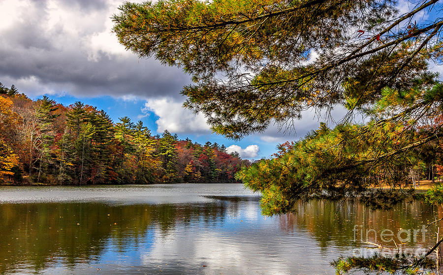 Landscape Photograph - Fort Mountain State Park Lake Trail by Bernd Laeschke