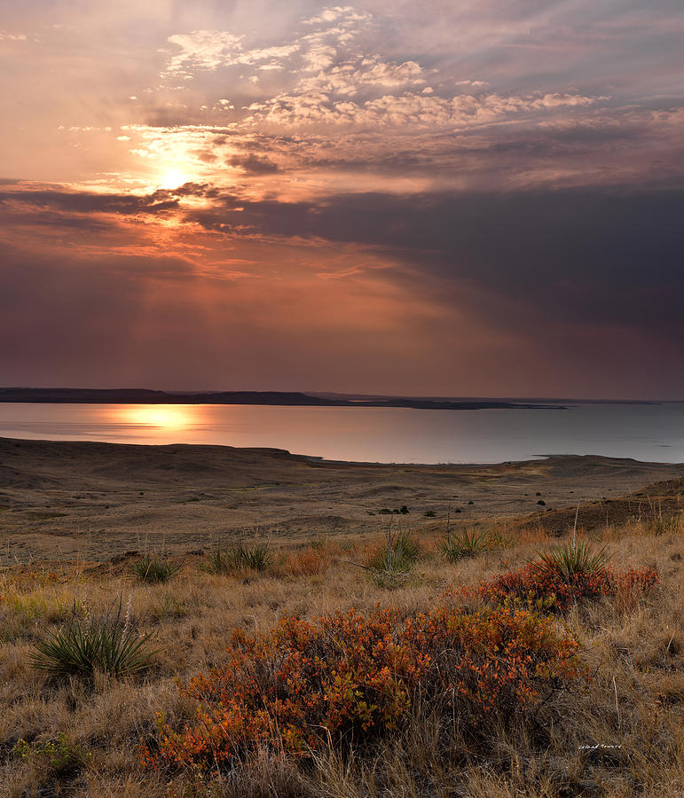 Beauty Photograph - Fort Peck Lake by Leland D Howard