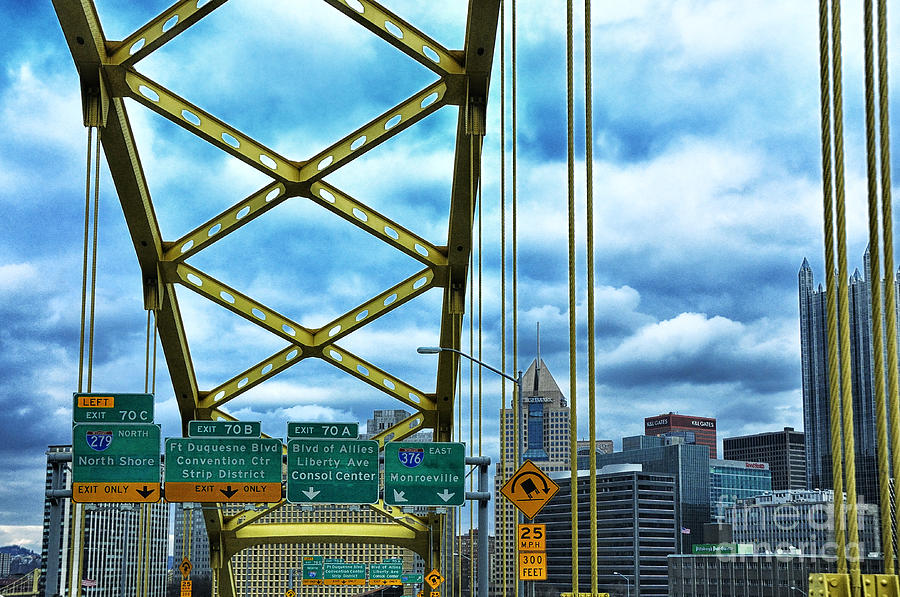 Bridge Photograph - Fort Pitt Bridge And Downtown Pittsburgh by Thomas R Fletcher