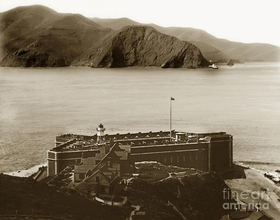 Fort Point Photograph - Fort Point And The Golden Gate San Francisco Circa 1890 by California Views Mr Pat Hathaway Archives