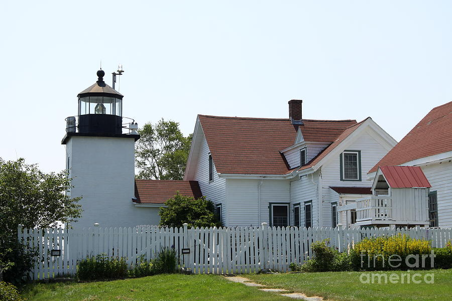 Lighthouse Photograph - Fort Point Lighthouse by Christiane Schulze Art And Photography