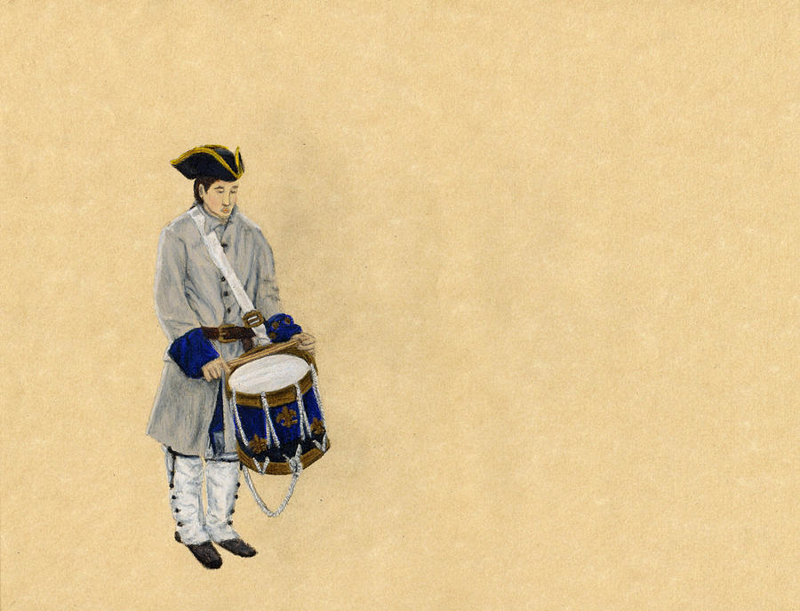 Drummer Boy Drawing - Fort Toulouse Drummer Boy by Beth Parrish