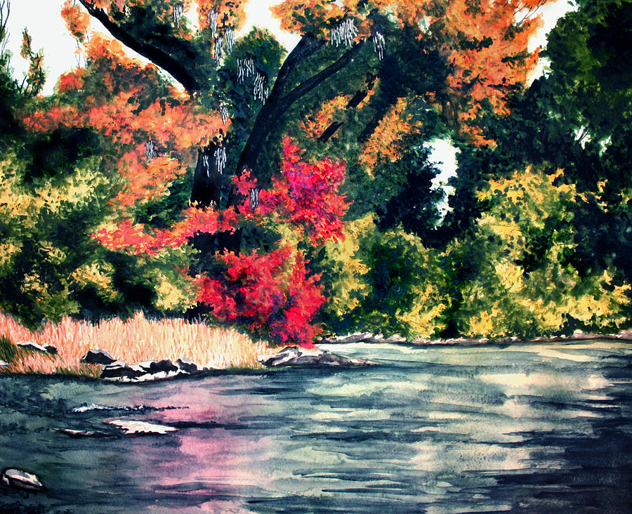 River Painting - Fort Toulouse Tallapoosa River Flair by Beth Parrish