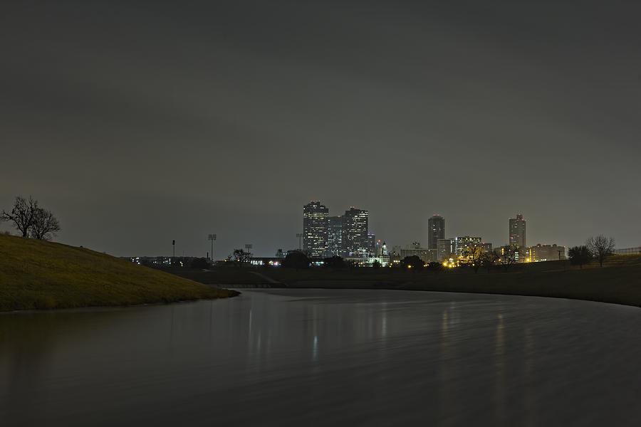 Fort Worth Skyline Winter Fog Photograph