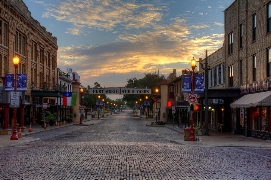 Fort Worth Stockyards Sunrise Photograph