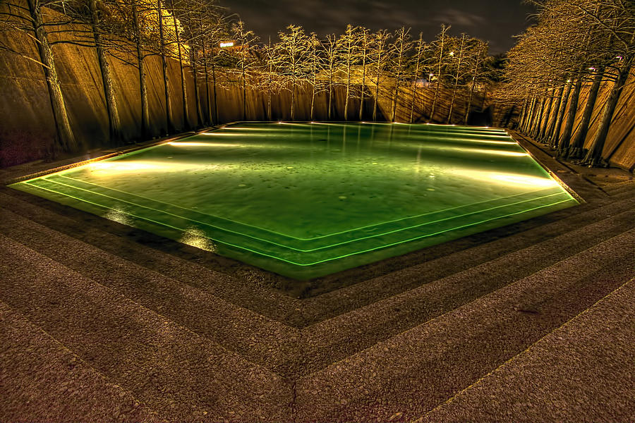 Fort Worth Water Garden Calm Pool Photograph