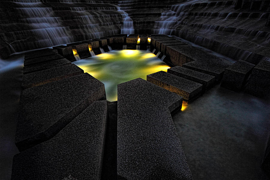 Fort Worth Water Garden Water Fall Photograph