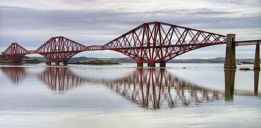 Forth Photograph - Forth Bridge Reflections by Ross G Strachan