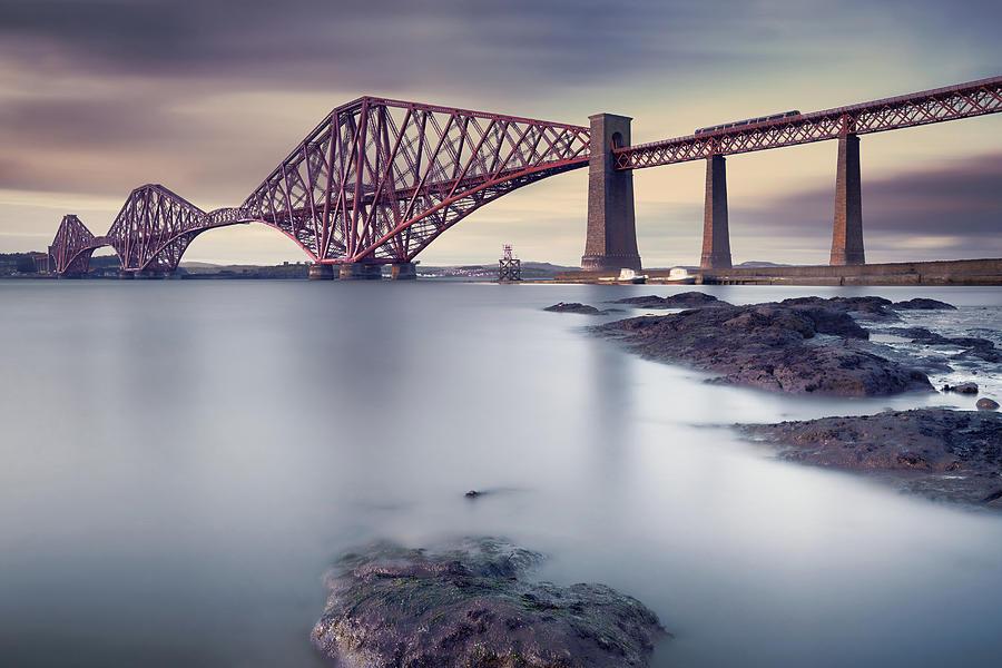 Forth Rail Bridge Photograph by Martin Vlasko