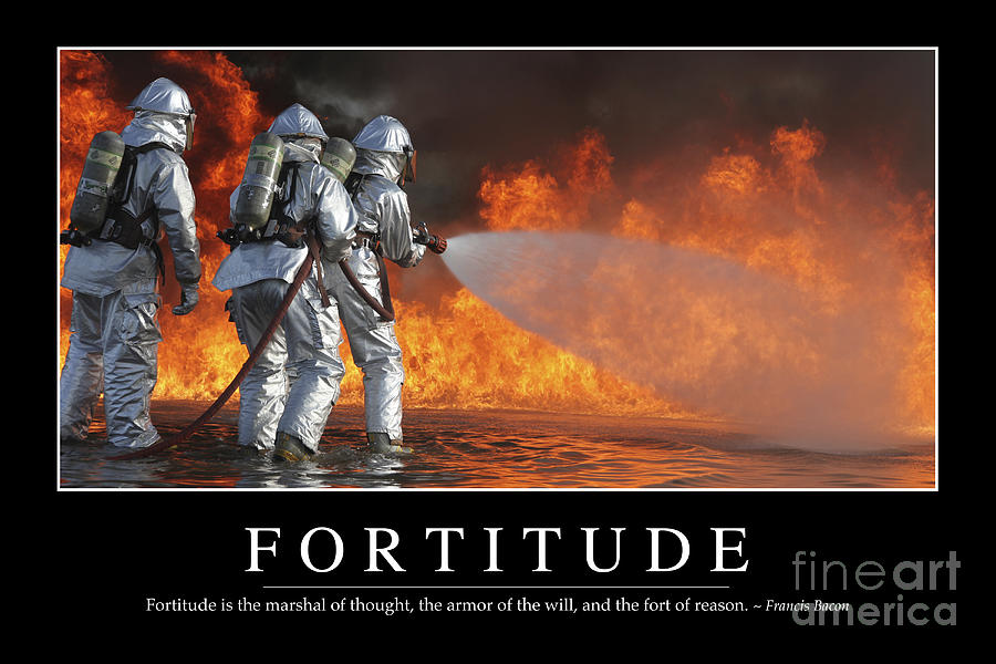 Fortitude Inspirational Quote Photograph By Stocktrek Images