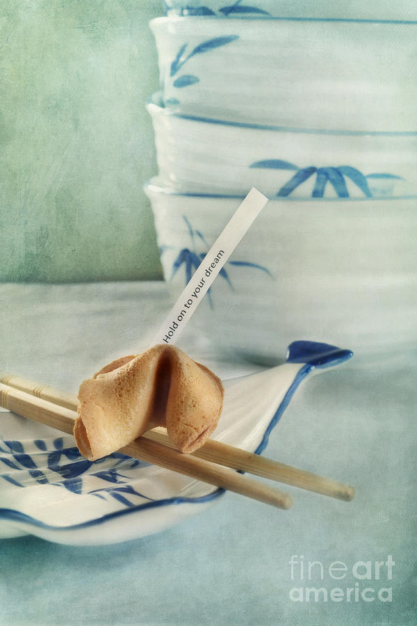 Chinaware Photograph - Fortune Cookie by Priska Wettstein