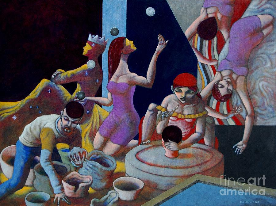 Fortune Teller Painting - Fortune Sellers by Paul Hilario