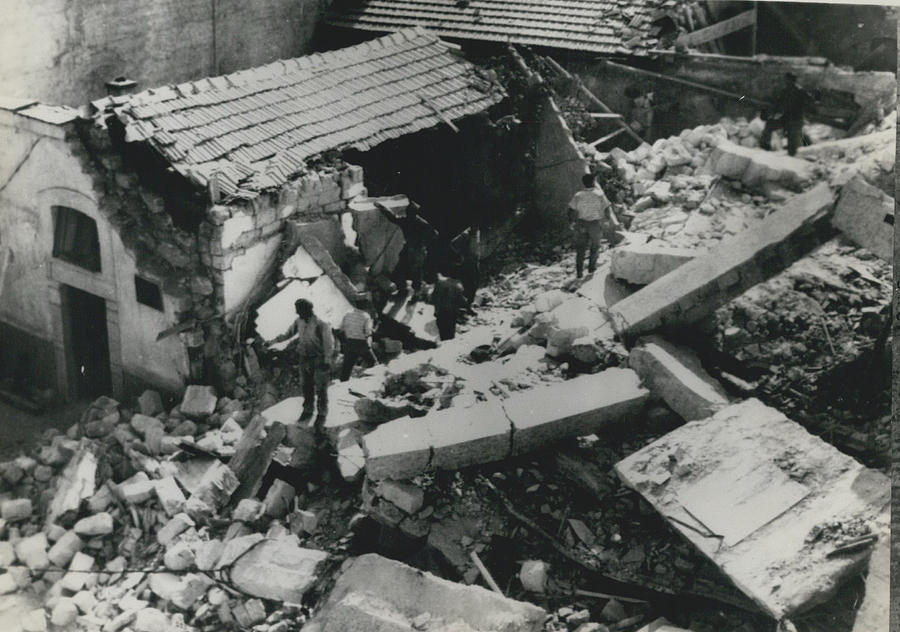 Retro Photograph - Forty Dead In Flats Collapse In Italy by Retro Images Archive