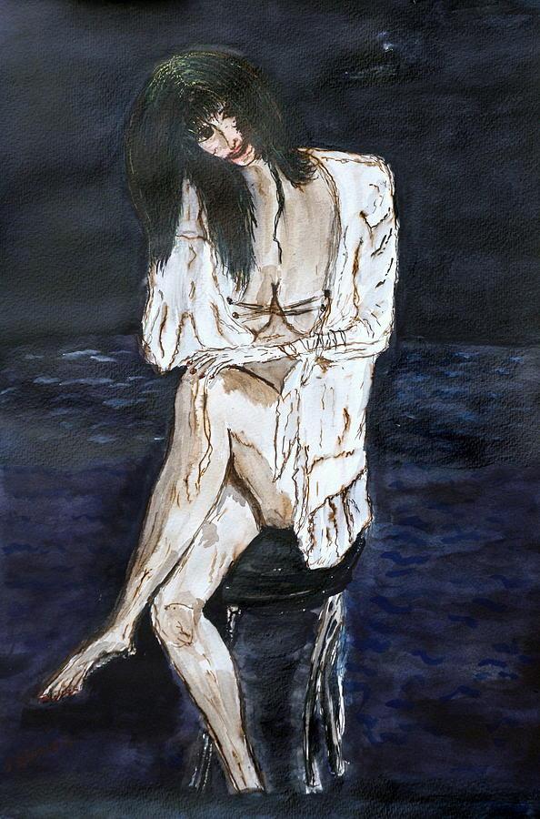 Nude Framed Prints Painting - Forty. by Shlomo Zangilevitch