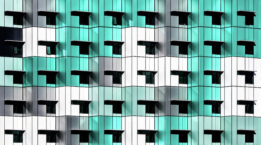 Teal Photograph - Forty Windows by Wayne Pearson