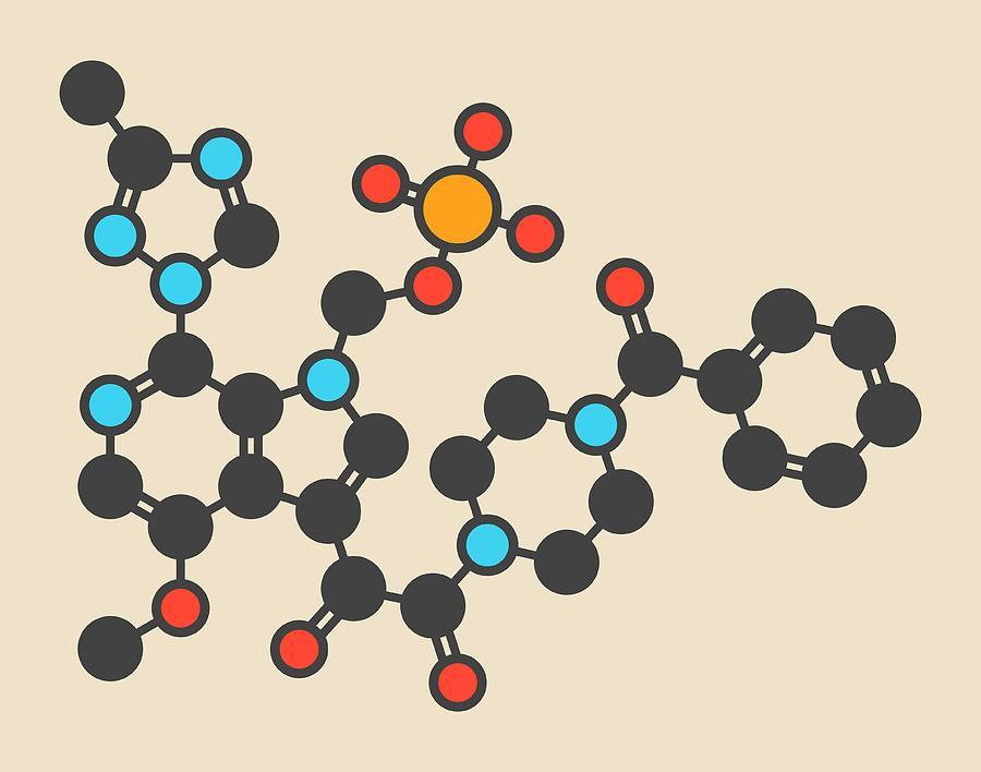 Hiv Photograph - Fostemsavir Hiv Virus Drug Molecule by Molekuul