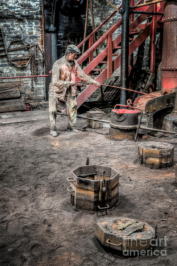 British Photograph - Foundry Worker by Adrian Evans