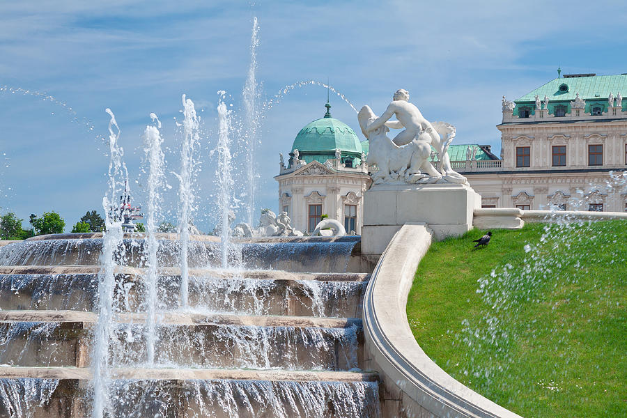 Vienna Photograph - Fountain Cascades by Viacheslav Savitskiy