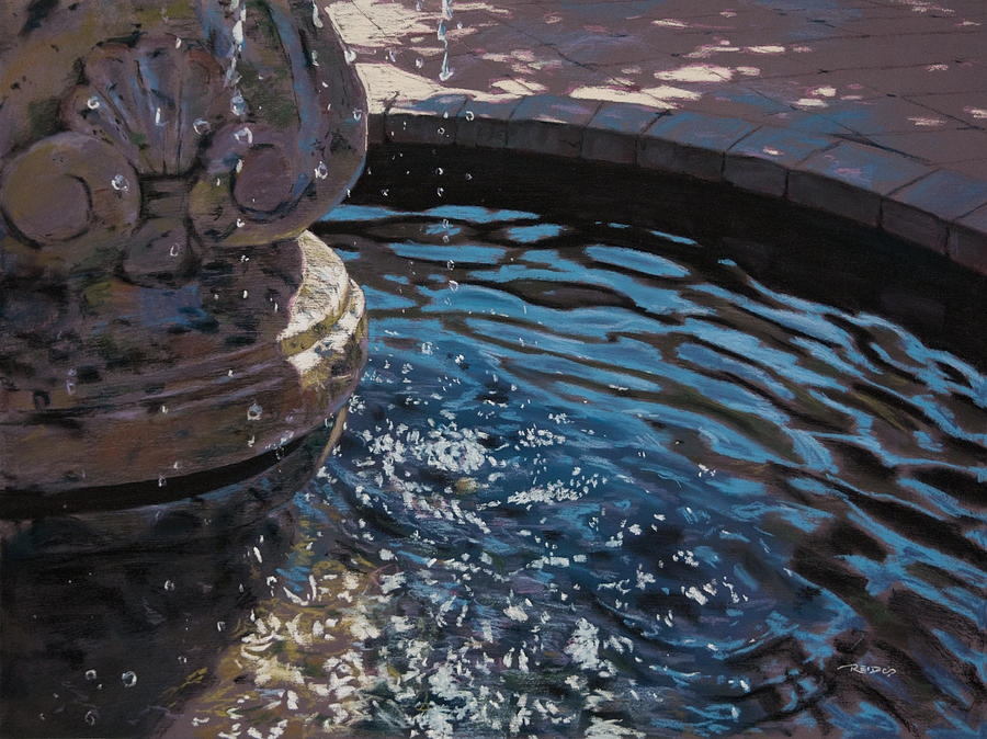 America Pastel - Fountain by Christopher Reid