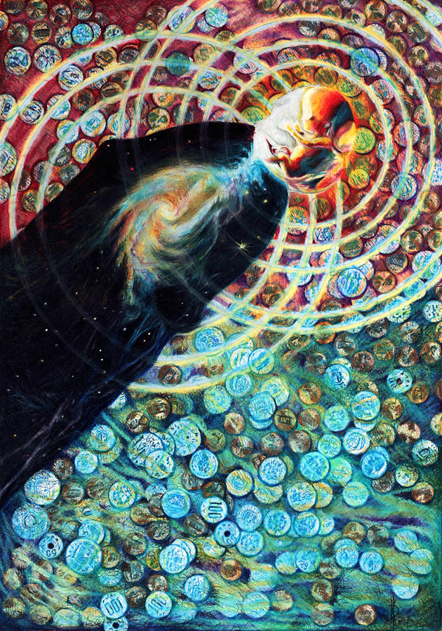 Metaphysical Drawing - Fountain by Kd Neeley