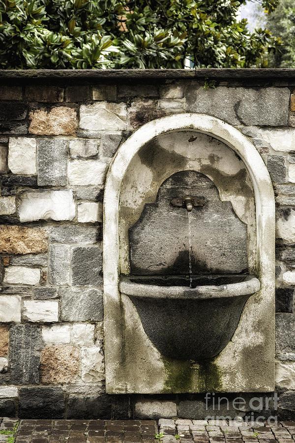 Switzerland Photograph - Fountain Of Ascona by Timothy Hacker