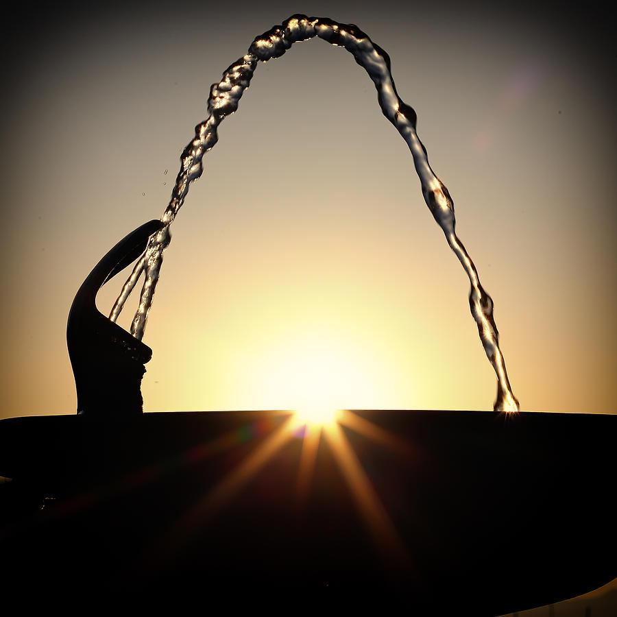 Japan Photograph - Fountain Over The Sun by Rscpics