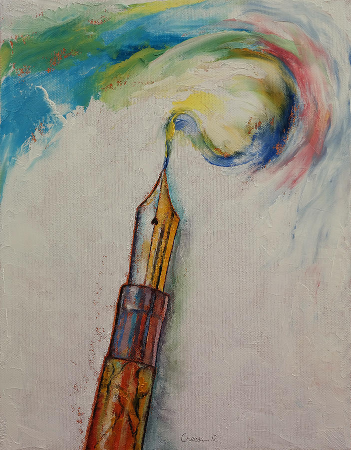 Ink Painting - Fountain Pen by Michael Creese