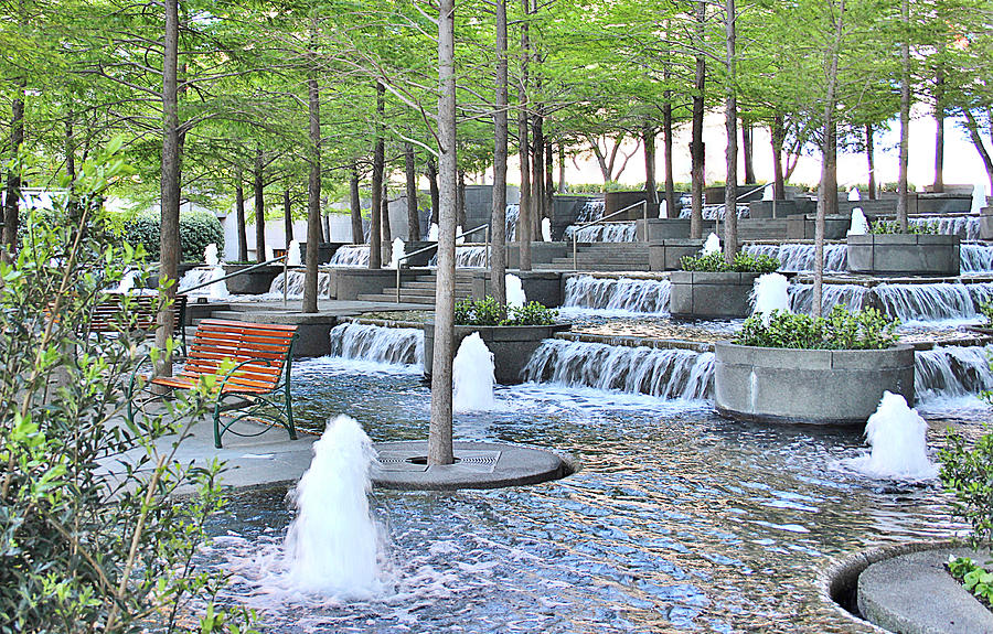 Fountain Place Photograph - Fountain Place by Roberta  Stanaitis