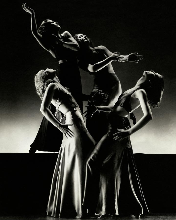 Four Dancers Of The Albertina Rasch Ballet Group Photograph by Edward Steichen