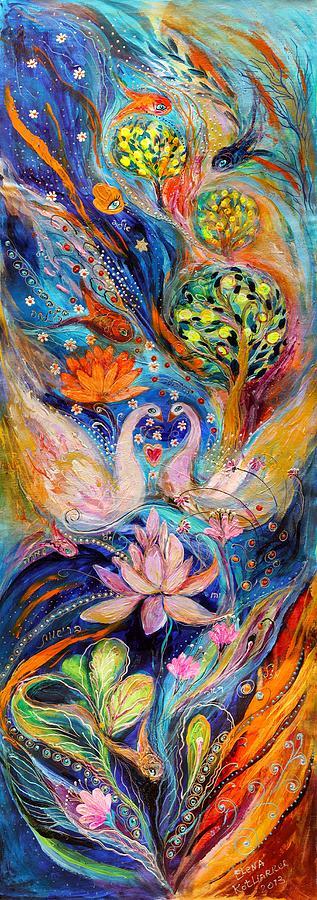 Jewish Art Prints Painting - Four Elements Water by Elena Kotliarker