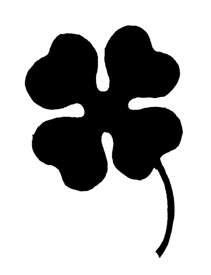 Clover Painting - Four-leaf Clover by Granger