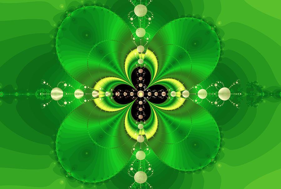Four Leaf Clover Digital Art by Reginald Atkins