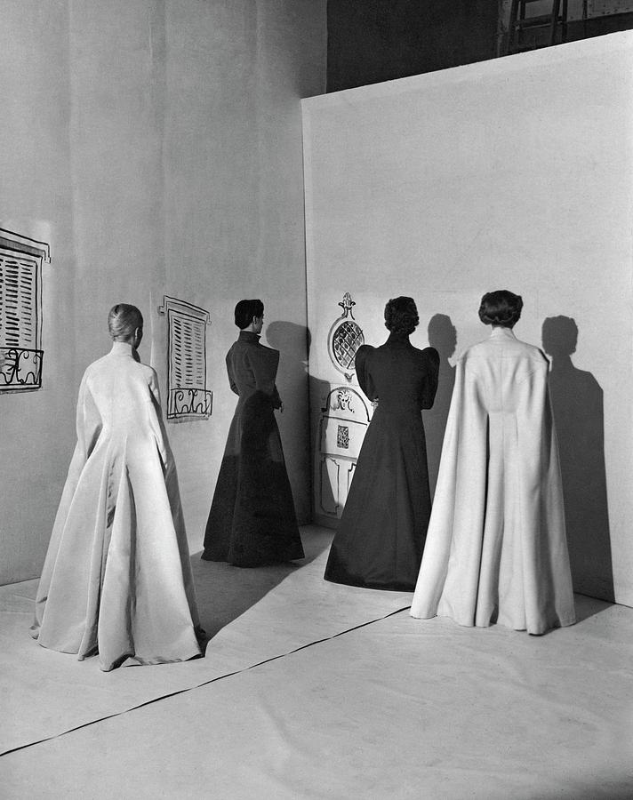 Four Models Wearing Charles James Coats Photograph by Cecil Beaton