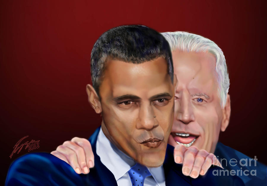 Vice President Joe Biden Painting - Four More Baby by Reggie Duffie