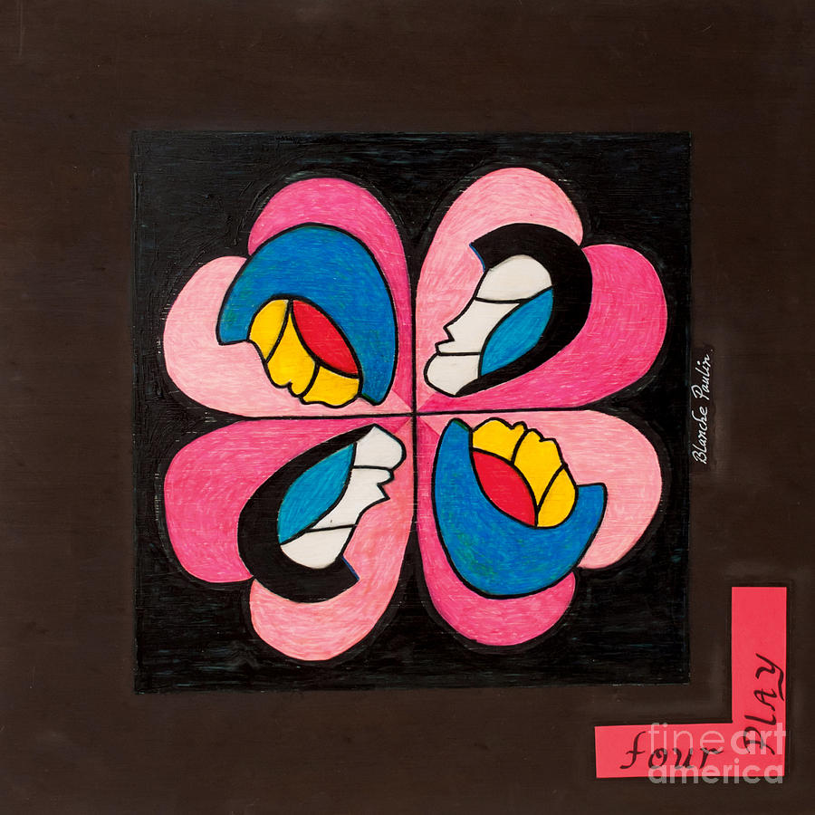 Abstract Painting - Four Play by Blanch Paulin