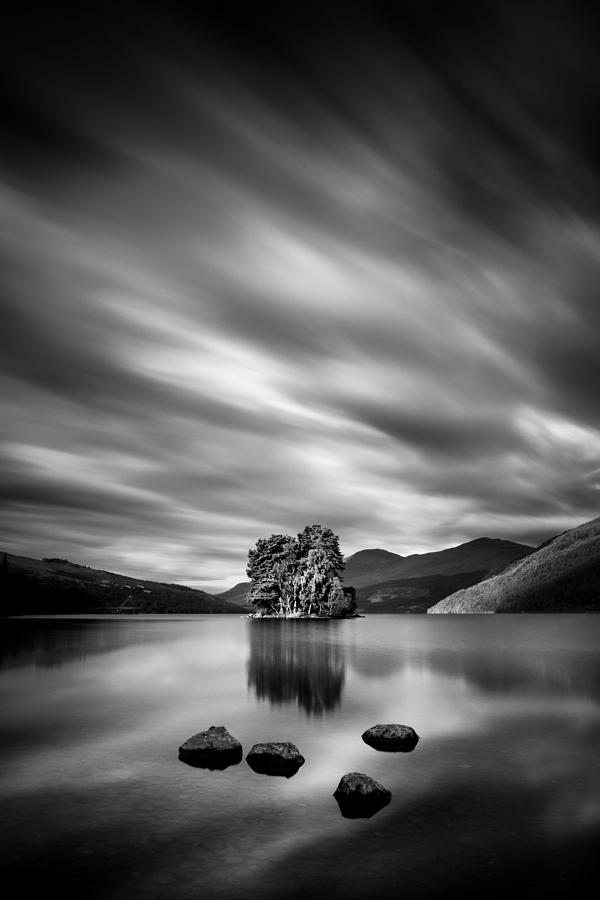 Loch Tay Photograph - Four Rocks by Dave Bowman