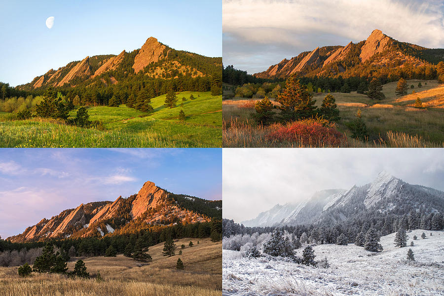 Four Seasons The Flatirons Photograph By Aaron Spong