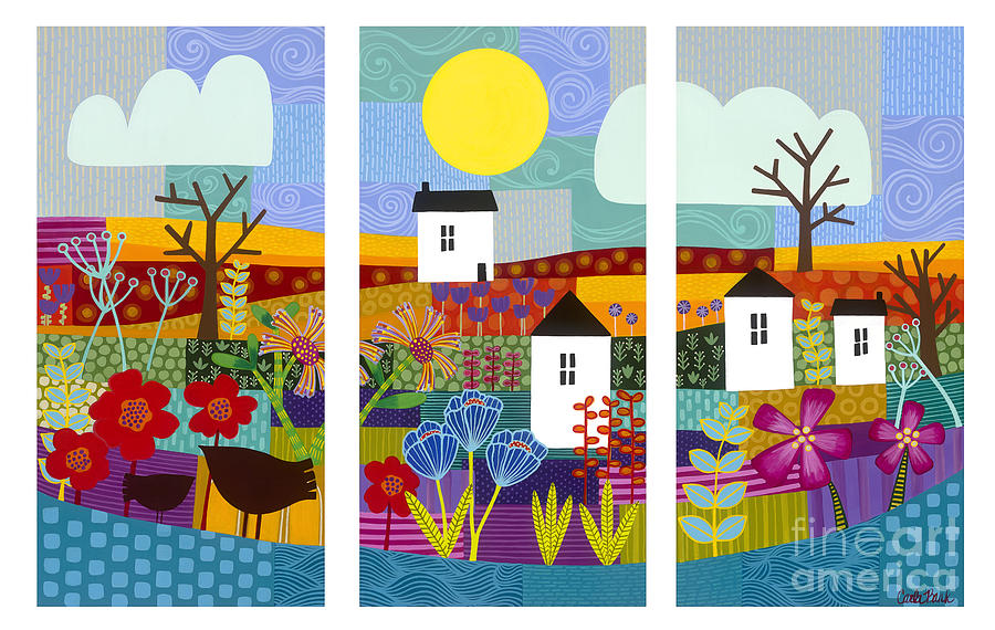 Vibrant Landscape Painting - Four Seasons by Carla Bank