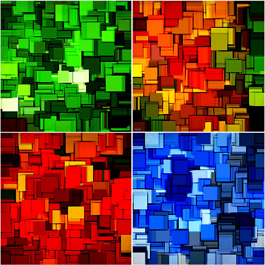 Four Seasons Photograph - Four Seasons In Abstract II by Lourry Legarde