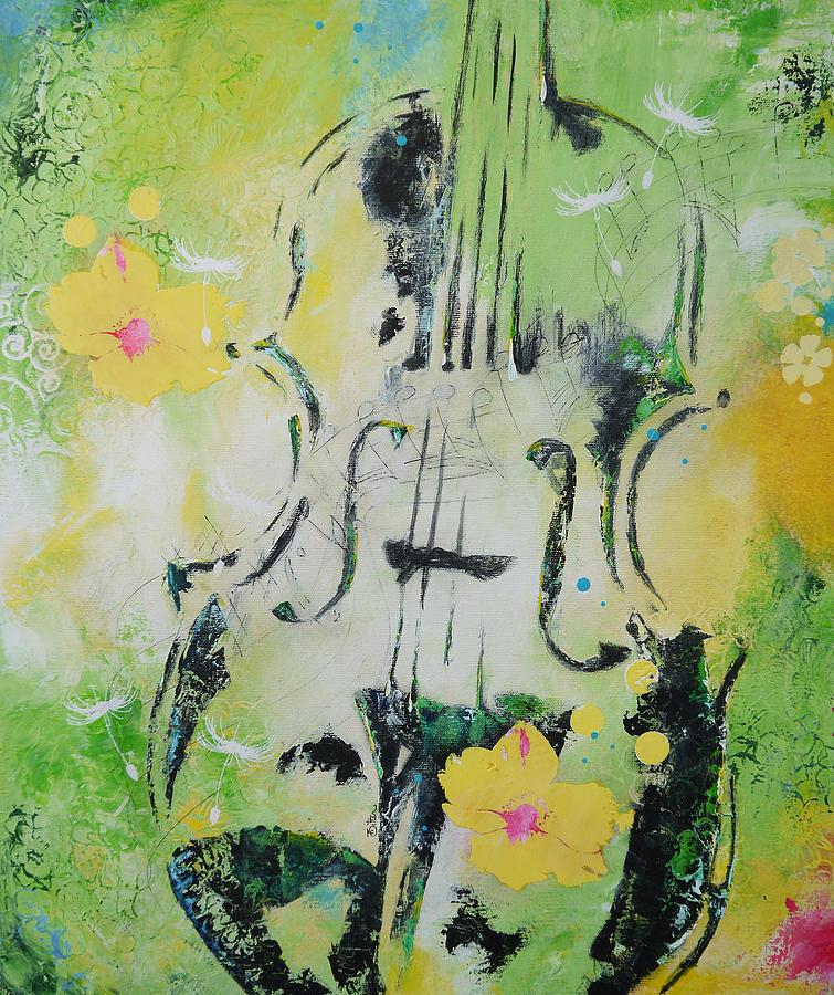 Four Seasons Painting - Four Seasons Spring by Bitten Kari