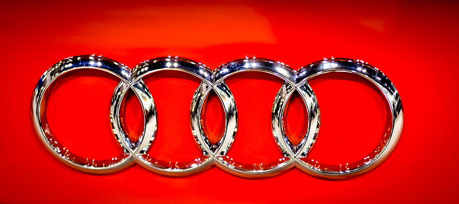 Audi Photograph - Four Silver Rings by Ronda Broatch