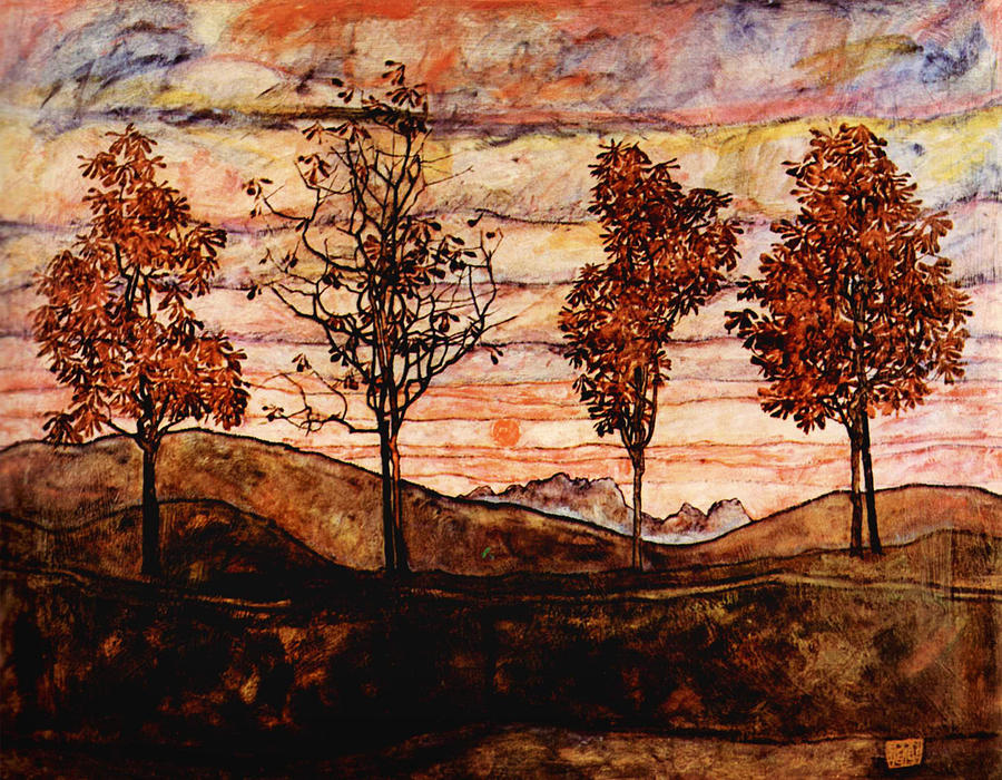 Four Trees Painting