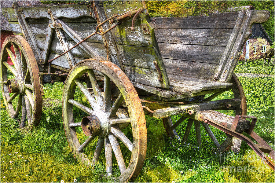 Vehicle Photograph - Four Wheels But No Horse by Heiko Koehrer-Wagner