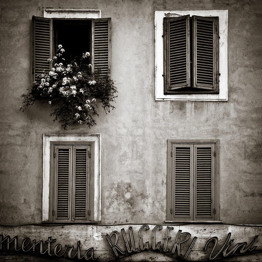 Rome Photograph - Four Windows by Dave Bowman