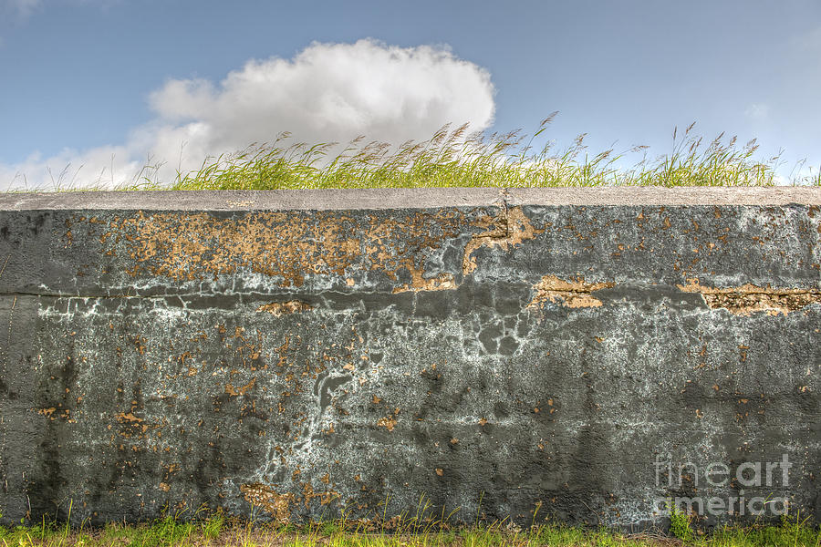 Fort Moultrie Photograph - Fourt Moultrie Battery Jasper Wall by Dale Powell