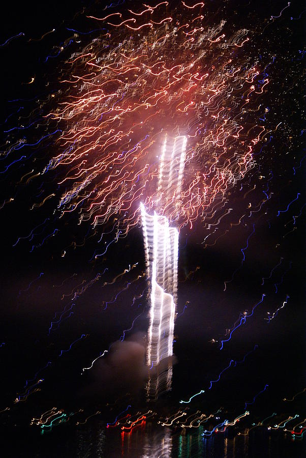 Fireworks Photograph - Fourth Of July Grand Lake Co 2007 by Jacqueline Russell